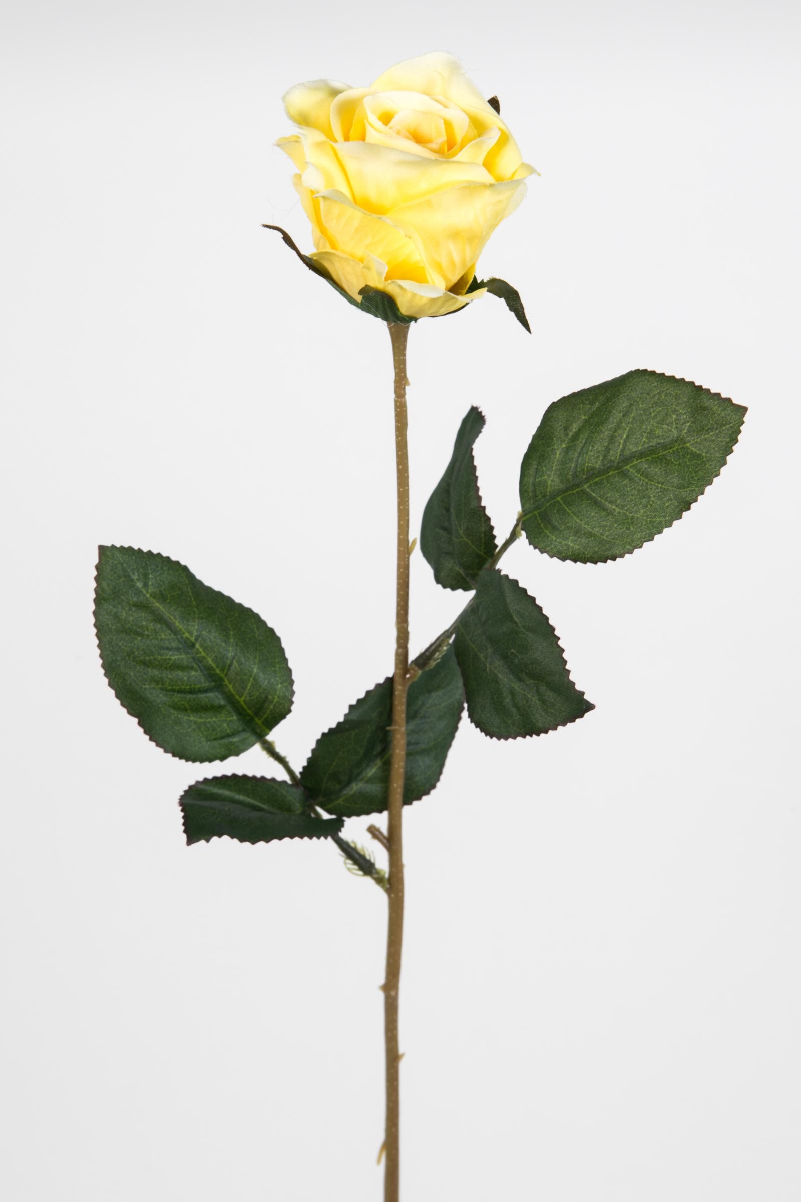 Dekorose gelb Rose Holzrose Kunstblume Rosendeko Deko Kunstrose gelbe Holzrosen