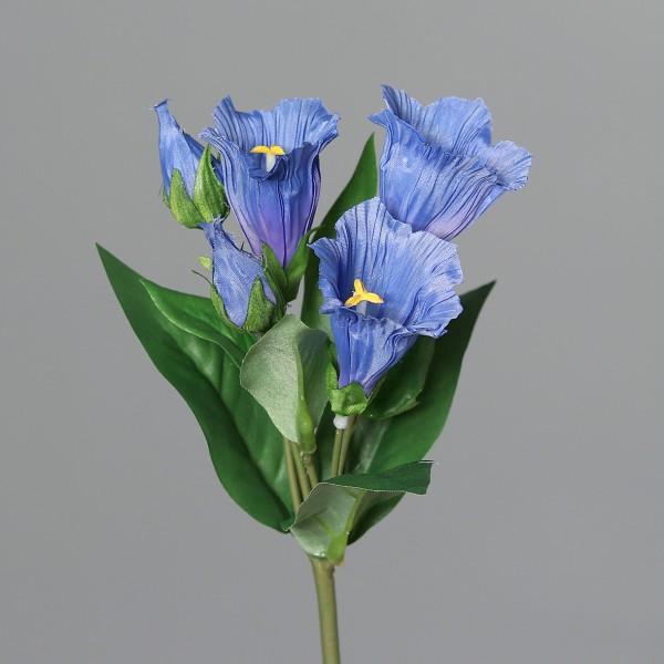 Enzian 20cm blau DP Kunstblumen künstliche Blumen Pflanzen Enzianblume Enziangewächse