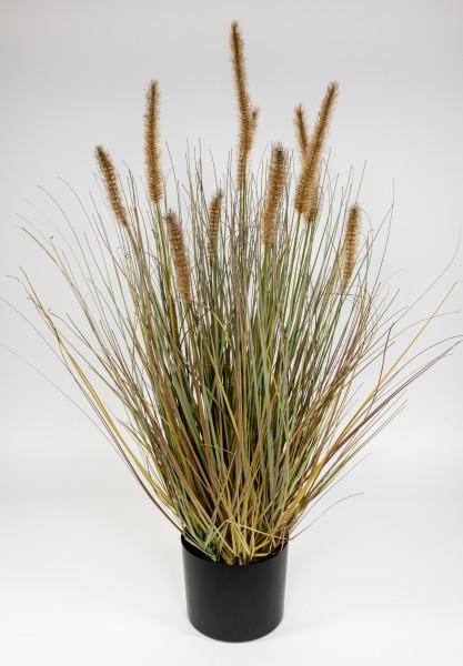 Fuchsschwanzgras 80x45cm braun CG Kunstpflanzen Dekogras Grasbusch künstliches Gras