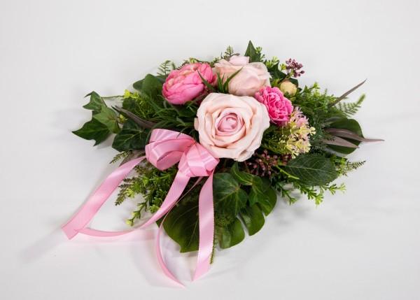 Tischgesteck / Wandhänger rund 30cm rosa-pink Kunstblumen künstliche Blumen Gesteck