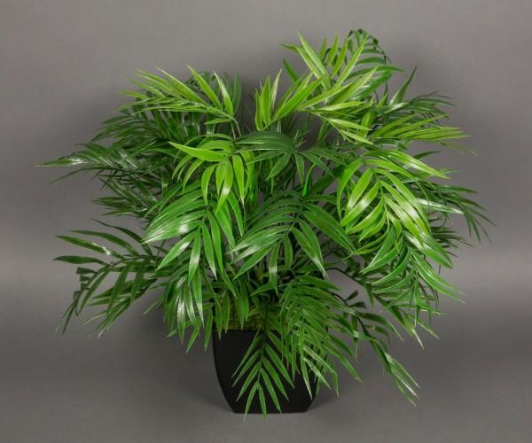 Palmenbusch 48cm x 44cm im schwarzen Dekotopf GA Kunstpflanzen künstliche Palme Kunstpalmen