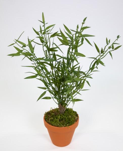 Bambusbusch 42cm grün imt Topf GA Kunstpflanzen künstlicher Bambus Pflanzen Kunstbambus