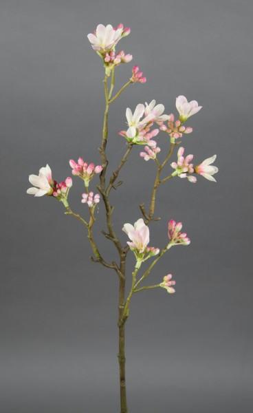 Quittenzweig / Quittenast 52cm rosa-creme GA Kunstblumen künstliche Blumen Quitten Zweige