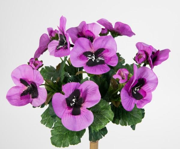 Künstliche Stiefmütterchen 26cm lila PM Kunstpflanzen Pflanze Blumen Kunstblumen Veilchen