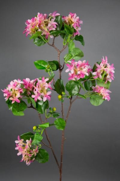 Fliederzweig 90cm rosa-pink ZF Kunstblumen Seidenblumen künstlicher Flieder Zweige Blumen