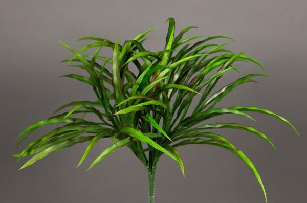 Dracenabusch 36cm grün-rot -ohne Topf- YF Kunstpflanzen Grasbusch künstliches Gras Dekogras