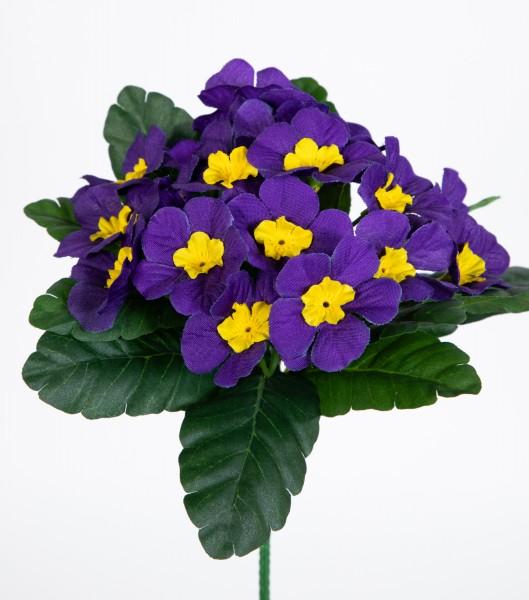 Primelbusch 24x22cm lila mit 20 Blüten PM Kunstblumen Kunstpflanzen künstliche Primel Schlüsselblume