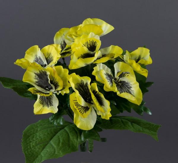 Stiefmütterchen 24cm gelb LM Kunstpflanzen künstliche Pflanze Blumen Kunstblumen