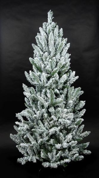 Schnee-Tannenbaum 150cm LS künstlicher Weihnachtsbaum Tannenbaum Kunststoff Schneetanne