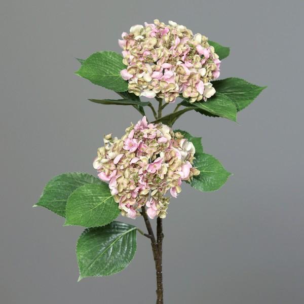 Hortensienzweig 80cm rosa DP Kunstblumen Kunstpflanzen künstliche Hortensie Blumen Hydrangea
