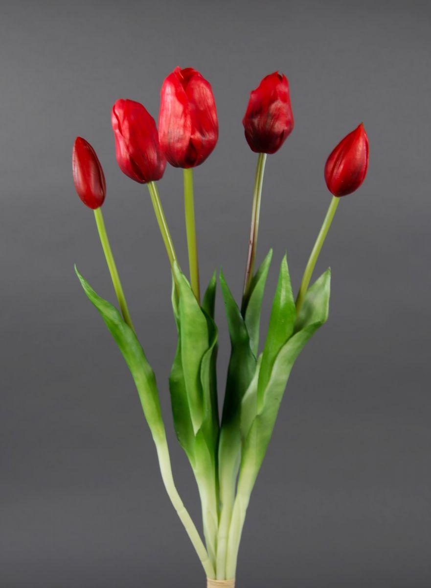 tulpenbund real touch 45cm rot ga kunstblumen k nstliche blumen tulpen ebay. Black Bedroom Furniture Sets. Home Design Ideas