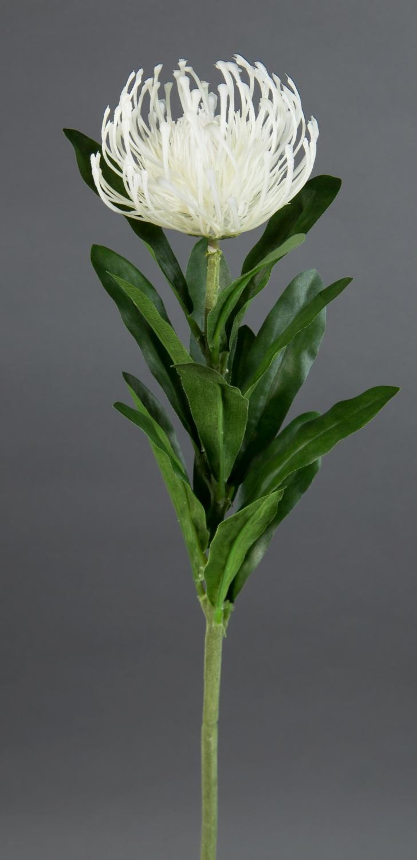 Amaryllis L 68cm weiß künstlich Seidenblume