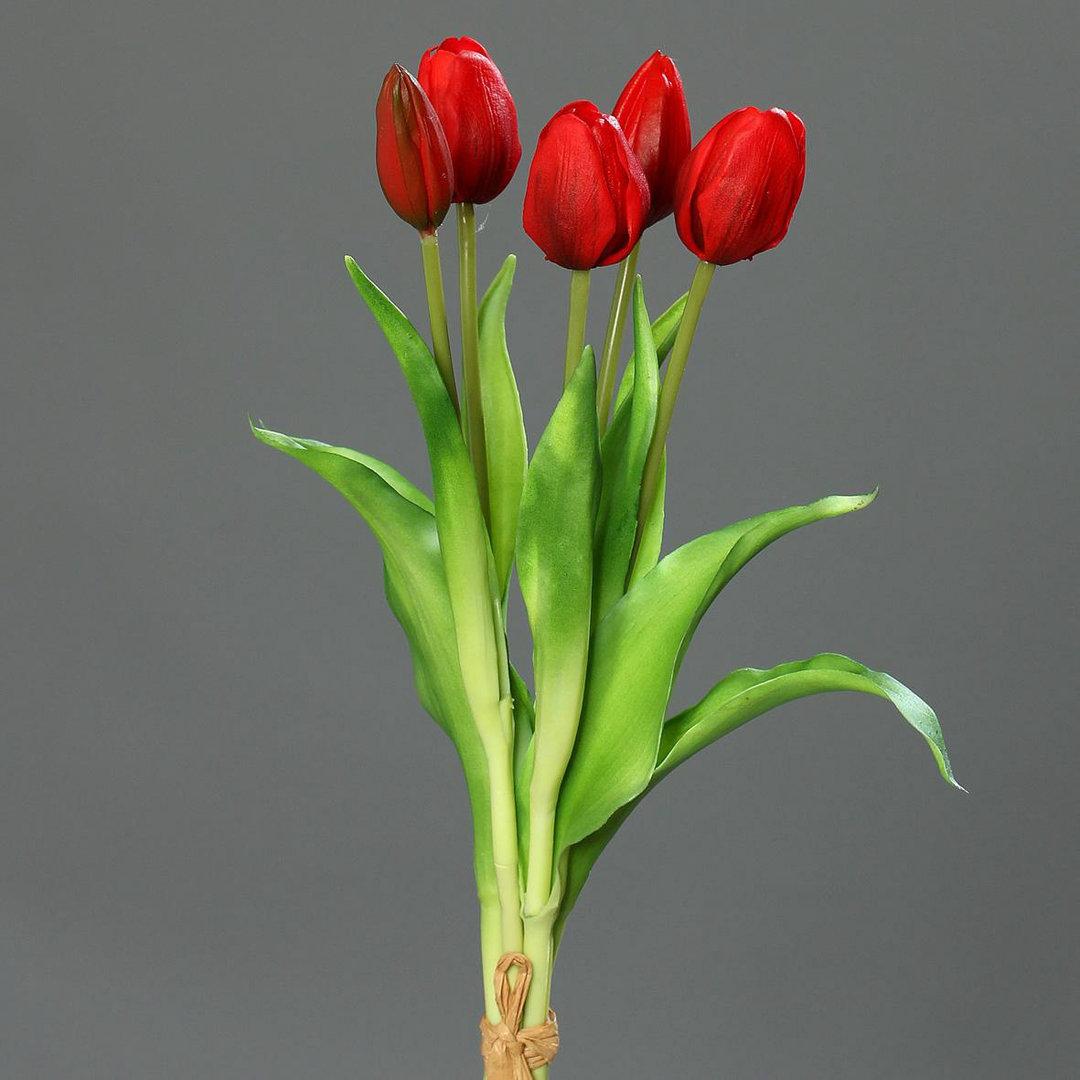 tulpenbund real touch 36cm rot dp kunstblumen k nstliche blumen tulpen ebay. Black Bedroom Furniture Sets. Home Design Ideas