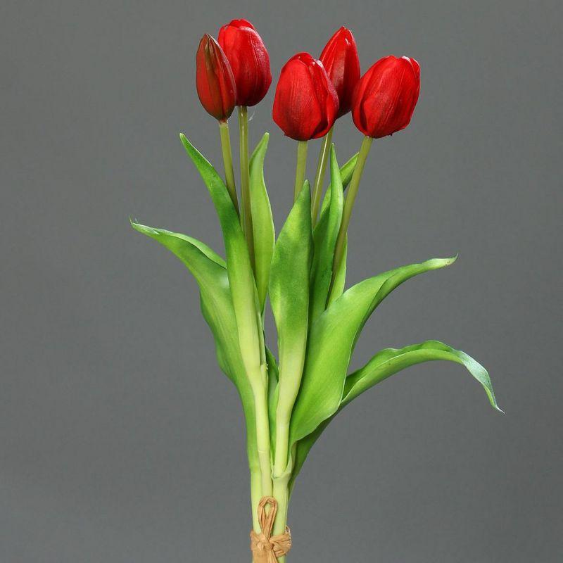 tulpenbund real touch 36cm rot dp kunstblumen k nstliche blumen tulpen 4251341705215 ebay. Black Bedroom Furniture Sets. Home Design Ideas