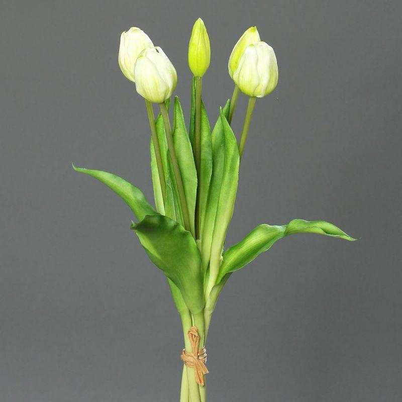 tulpenbund real touch 36cm wei dp kunstblumen k nstliche blumen tulpen ebay. Black Bedroom Furniture Sets. Home Design Ideas